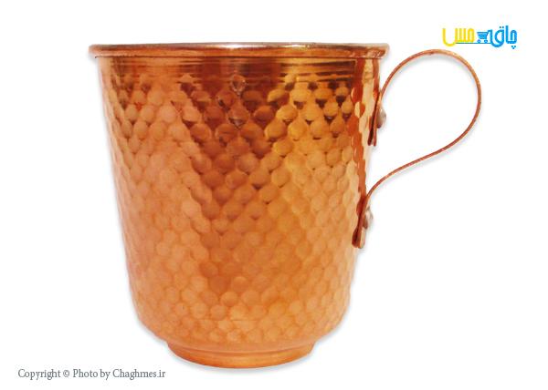 ست 2تایی لیوان مسی زنجان مدل استوانه ای پله دار بزرگ ، زیبا ومناسب سرو انواع نوشیدنی